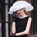 זול כלי אוכל-אורגנזה כובעים עם פרחוני 1pc חתונה / מסיבה\אירוע ערב כיסוי ראש