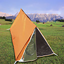 cheap Tents, Canopies & Shelters-1 person Emergency Survival Shelter Tent Outdoor Lightweight UV Resistant Breathability Double Layered Poled Camping Tent 1000-1500 mm for Camping / Hiking / Caving Nylon 200*100*100 cm