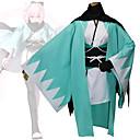billige Anime Kostumer-Inspireret af Skæbnen / Grand Order Okita Souji Anime Cosplay Kostumer Cosplay Kostumer Geometrisk Langærmet Kimono Frakke Til Dame