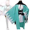 abordables Disfraces de Anime-Inspirado por Destino / Grand Order Okita Souji Animé Disfraces de cosplay Trajes Cosplay Geométrico Manga Larga Chaqueta de Kimono Para Mujer