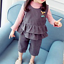 cheap Men's Sneakers-Baby Girls' Solid Colored Long Sleeve Clothing Set