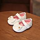 ieftine Pantofi Fetițe-Fete Pantofi PU Vară Primii Pași Pantofi Flați Funde / Bandă Magică pentru Bebeluș Auriu / Alb / Roz