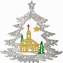 olcso Falmatricák-Karácsonyi díszek Ünneő Műanyag Négyzet Újdonságok Karácsonyi dekoráció