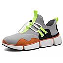 זול נעלי ספורט לגברים-בגדי ריקוד גברים רשת / PU סתיו נוחות נעלי אתלטיקה ריצה קולור בלוק שחור / כתום / ירוק