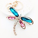 cheap RC Parts & Accessories-Dog Butterfly Keychain Gold Irregular Zircon Alloy Colorful For Date Valentine