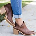זול נעלים שטוחות לנשים-בגדי ריקוד נשים מגפיים מגפיים עקב עבה בוהן מחודדת PU מגפונים\מגף קרסול בריטי סתיו חורף חום / כחול בהיר / חאקי / EU40