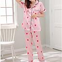billige Smykke Sett-Dame Firkantet hals Dress Pyjamas - Geometrisk