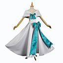 preiswerte Anime-Kostüme-Inspiriert von Schicksal / Großauftrag Saber / Altria Pendragon Anime Cosplay Kostüme Cosplay Kostüme Luxus / Schleife Umhang / Handschuhe / Socken Für Damen Halloween Kostüme