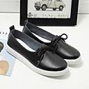 hesapli Kadın Düz Ayakkabıları ve Makosenleri-Kadın's Mokasen & Bağcıksız Ayakkabılar Deri ayakkabı Düz Taban Yuvarlak Uçlu Deri Minimalizm İlkbahar yaz Siyah / Pembe / Açık Mavi / Günlük