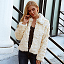 cheap Wedding Wraps-Long Sleeve Faux Fur Wedding / Party / Evening Women's Wrap With Solid Coats / Jackets