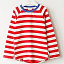 povoljno Džemperi i kardigani za djevojčice-Djeca Djevojčice Prugasti uzorak Dugih rukava Džemper i kardigan