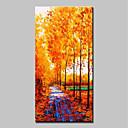 povoljno Apstraktno slikarstvo-Hang oslikana uljanim bojama Ručno oslikana - Pejzaž Cvjetni / Botanički Klasik Moderna Bez unutrašnje Frame / Valjani platno