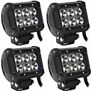 cheap Vehicle Working Light-4 Pieces 60W 6000LM Spot Flood Beam Combination Fit for Dodge Chevrolet Ford JEEP etc