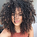 cheap Synthetic Capless Wigs-Synthetic Wig Women's Curly Black Side Part Synthetic Hair 16 inch Natural Hairline Black / Brown Wig Mid Length Capless Black / Brown MAYSU / Yes