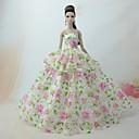 preiswerte Zubehör für Puppen-Niedlich Kleid Für Barbie-Puppe Polyester Kleid Für Mädchen Puppe Spielzeug
