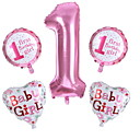 cheap Birthday Home Decorations-Balloons Letter Creative / Handheld Birthday Party Decorations 5pcs