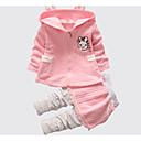 povoljno Modne naušnice-Dijete Djevojčice Osnovni Dnevno Jednobojni / Print Dugih rukava Regularna Pamuk Komplet odjeće Blushing Pink / Dijete koje je tek prohodalo