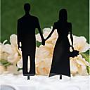 olcso Torta díszek-Tortadísz Klasszikus téma / Esküvő Kivágott Akril / Poliészter Esküvő / Évforduló val vel Akril 1 pcs PVC táska