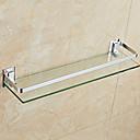 זול מדפי מקלחת-צדף לחדר האמבטיה עיצוב חדש / מגניב מודרני זכוכית / פלדת אל חלד / ברזל 1pc מותקן על הקיר