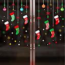 baratos Adesivos de Parede-Filme de Janelas e Adesivos Decoração Natal Personagem PVC Adesivo de Janela / Adorável / Engraçado