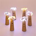 tanie Taśmy świetlne LED-6 sztuk trzy funkcja butelki butelki 20 lampa string 2 m wino doprowadził ciąg światła korek korek butelki korka światła lampy światła boże narodzenie strona dekoracji butelki korek światła