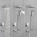 billige Dusjhoder-Dusjkran / Baderom Sink Tappekran - Moderne Krom Vægmonteret Messing Ventil