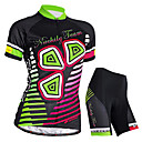 cheap Cycling Jerseys-Nuckily Women's Short Sleeve Cycling Jersey with Shorts Black Bike Shorts Jersey Clothing Suit Waterproof Breathable Ultraviolet Resistant Waterproof Zipper Reflective Strips Sports Polyester Elastane