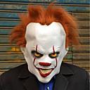 billige Kostymeparykk-Syntetiske parykker / Kostymeparykker Rett Bobfrisyre Syntetisk hår 12 tommers Cosplay / Fest / Morsom Lysebrun Parykk Herre Kort Maskinprodusert Lysebrun