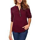preiswerte Moderinge-Damen Solide T-shirt, V-Ausschnitt