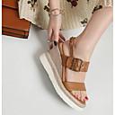 preiswerte Damen Sandalen-Damen Sandalen Sandalen mit Keilabsatz Keilabsatz Nappaleder Sommer Braun