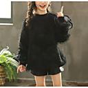 tanie Zestawy ubrań dla dziewczynek-Dzieci Dla dziewczynek Podstawowy Solidne kolory Patchwork Długi rękaw Regularny Bawełna / Poliester Bluzka Czarny 140