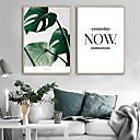 tanie Tapestry Ścienne-Oprawione płótno / Zestaw w oprawie - Botaniczne / Kwiatowy / Roślinny Plastik Ilustracja