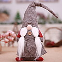 cheap Christmas Decorations-Ornaments / Christmas Figurines Cartoon Polyester Cartoon Toy Christmas Decoration