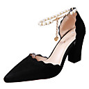 cheap Weight Management-Women's Heels Pumps Chunky Heel Pointed Toe Imitation Pearl PU(Polyurethane) Fall Black / Gray / Light Pink / Party & Evening / Daily / Party & Evening