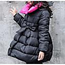 povoljno Jakne i kaputi za djevojčice-Dijete koje je tek prohodalo Djevojčice Osnovni Jednobojni Dugih rukava Pamuk Pernata i pamučna podstava Crn 140