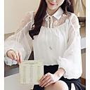billige Mode Øreringe-Dame - Ensfarvet Basale Bluse