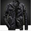 cheap Coffee and Tea-Men's Jacket - Solid Colored Stand / Long Sleeve