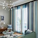 preiswerte Verdunkelungsvorhänge-Vorhänge drapiert Wohnzimmer Zeitgenössisch 100% Polyester Bedruckt / Verdunkelung