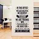 billige Vægklistermærker-Dekorative Mur Klistermærker - Fly vægklistermærker / Ord og citater Wall Stickers Karakterer / Former Stue / Læseværelse / Kontor