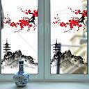 Χαμηλού Κόστους Αυτοκόλλητα Τοίχου-Window Film & αυτοκόλλητα Διακόσμηση Καλλιτεχνικό / Ρετρό / Klasika Φλοράλ PVC Νεό Σχέδιο / Απίθανο