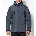cheap Car Headlights-Men's Going out Parka - Solid Colored Hooded / Long Sleeve