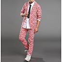 זול ג'קטים ומעילים לבנים-בנים בסיסי / סגנון רחוב כותנה מכנסיים - פסים דפוס פול / בית הספר / חגים