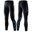cheap Running Shirts, Pants & Shorts-Men's Sexy Running Tights / Running Pants - Black, Silver, Blue Sports Color Block Tights / Bottoms Fitness, Gym, Workout Activewear Soft, Compression, Power Flex High Elasticity Slim