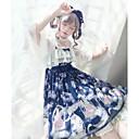 preiswerte Lolita Kleider-Niedlich Quadratischer Ausschnitt Chiffon Weiblich Ärmellose Kleider Cosplay Violett / Blau / Tintenblau Ärmellos Kostüme