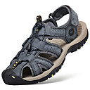 cheap Men's Sandals-Men's Comfort Shoes Nappa Leather Summer Sandals Water Shoes Breathable Black / Gray / Brown