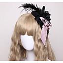 hesapli Lolita Aksesuarları-Lolita Aksesuarları Başlık Punk Modası Gotik Vampir Kadın's Kırmzı / Pembe / Mavi Mürekkep Fiyonk Düğüm Tüyler Başlık Pamuk Cadılar Bayramı Kostümleri