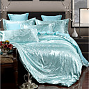 preiswerte Covers 3D Duvet-Bettbezug-Sets Luxus Polyester Jacquard 4 StückBedding Sets / 400 / 4-teilig (1 Bettbezug, 1 Bettlaken, 2 Kissenbezüge)