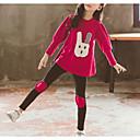 זול סטים של ביגוד לבנות-בנות בסיסי כותנה מכנסיים - אחיד טלאים כתום