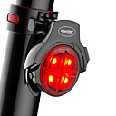 preiswerte Radlichter-Radlichter / Waterproof / Rückleuchten LED Radlichter LED Radsport Wasserfest, Tragbar, Professionell Li-Polymer 50 lm Wiederaufladbarer Strom Rot Camping / Wandern / Erkundungen / Radsport / ABS