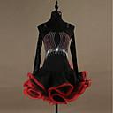 povoljno Egzotična plesna odjeća-Latino ples Haljine Žene Seksi blagdanski kostimi Spandex / Organza Kristali / Rhinestones Dugih rukava Haljina